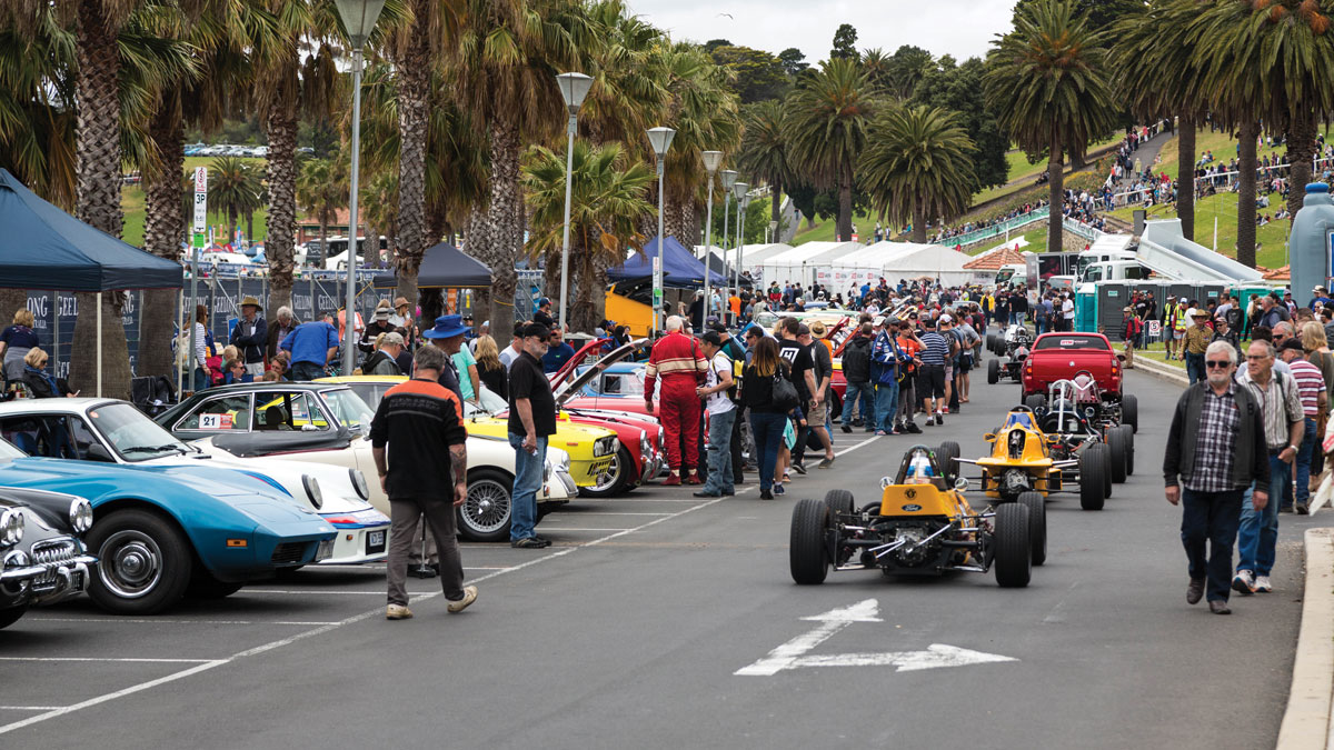 Pit Lane at Geelong Revival